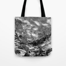 Waterfall Snowfall Tote Bag