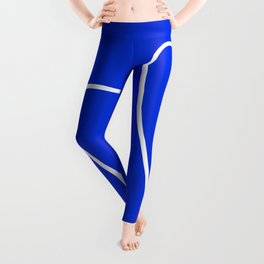 Blue Abstract Wave Leggings