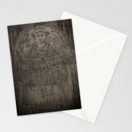 Monk mural Stationery Cards