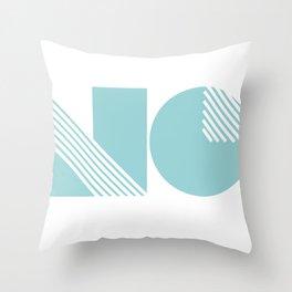 n & o Throw Pillow