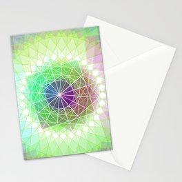 Orb Mandala 2 Aqua / Purple Stationery Cards