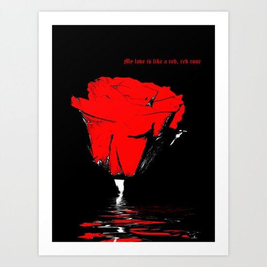Rose Love Art Print