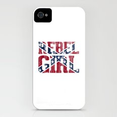 Rebel Girl Vintage Southern Confederate Flag iPhone (4, 4s) Slim Case