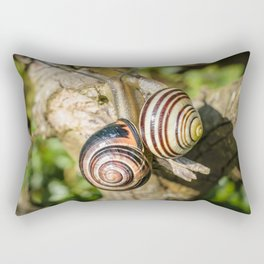 Two Grove Small Striped Snail / Snails Rectangular Pillow