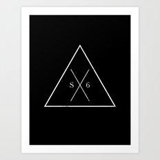 The Society Six (White Graphic) Art Print