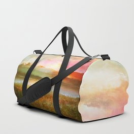 Sunset and flowers Duffle Bag