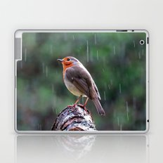 Robin in the rain Laptop & iPad Skin