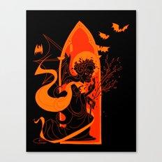Beati Vespertilionem: Orange Canvas Print