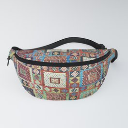 Zili East Anatolia Antique Turkish Rug Print Fanny Pack