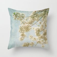 Blessings - Cherry Blossoms Throw Pillow