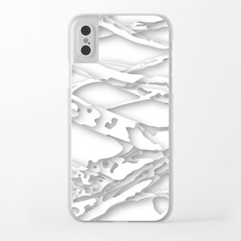 wild white areas Clear iPhone Case