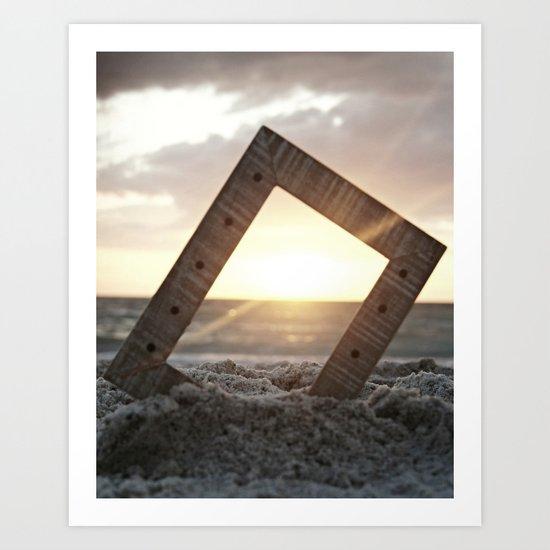 Picture Perfect Beach  Art Print