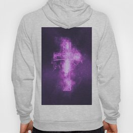 Eight music note symbol. Abstract night sky background Hoody