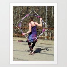 The Circle Inside the Square (Hula Hoop Series) Art Print