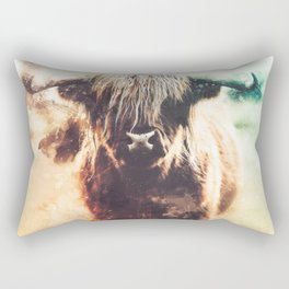 Bison Abstract Watercolor Painting Rectangular Pillow