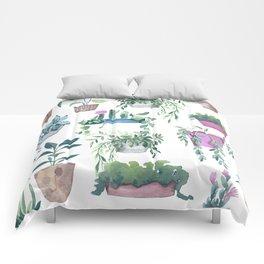 Garden Plants Collection Comforters