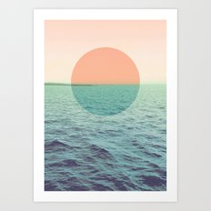 Because the ocean Art Print