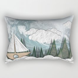 Paper Boat Rectangular Pillow