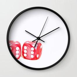 Lucky Dice fine art photography Wall Clock