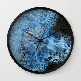 Blue marble Wall Clock