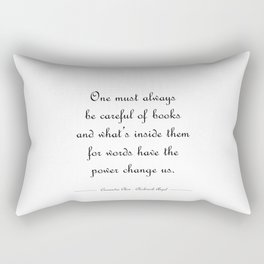 Words have the power to change us - Tessa Gray WHITE Rectangular Pillow