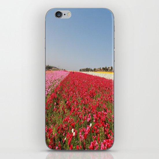Flower fields iPhone & iPod Skin