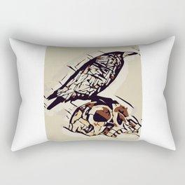 Skull RAVEN Rectangular Pillow