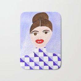Checked Woman Bath Mat