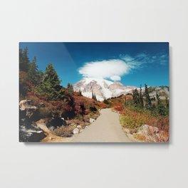 Mt Rainier in Autumn Metal Print