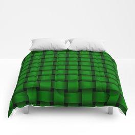 Green Weave Comforters