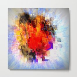 Finding Faces Metal Print