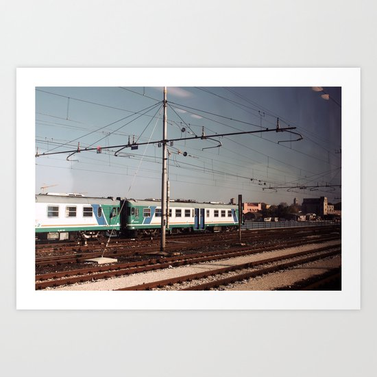 Padova Train Ride Art Print