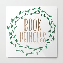 Book Princess Metal Print