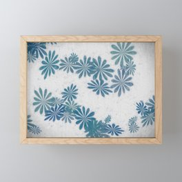Blue torquise Framed Mini Art Print