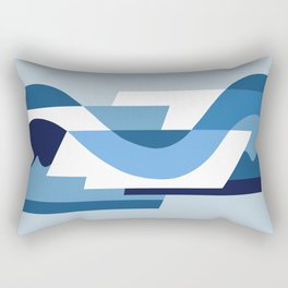SUISSE - Art Deco Modern: BLUE MONDAY Rectangular Pillow