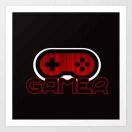 Red Gamer Art Print