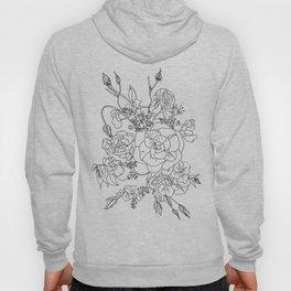 Floral Ink - Black & White Hoody