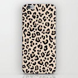 BLACK and WHITE LEOPARD PRINT – Ecru | Collection : Leopard spots – Punk Rock Animal Prints. iPhone Skin