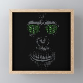 Matrix monkey Framed Mini Art Print
