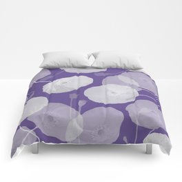 Ultra Violet Floral Abstract. Pantone Color of the Year 2018 Comforters