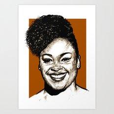 Jill Scott Art Print