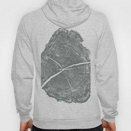Locust Tree ring image, woodcut print Hoody