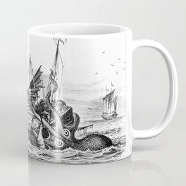 1810 vintage nautical octopus steampunk kraken sea monster drawing print Denys de Montfort retro Coffee Mug