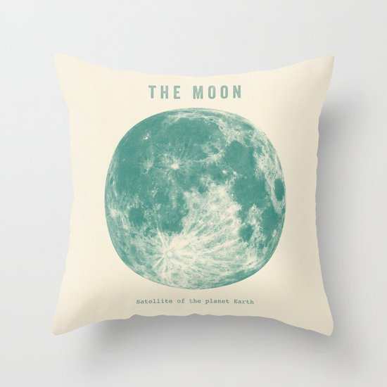 Satellite of the planet Earth  Throw Pillow