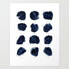 Zodiac Constellations Print Art Print