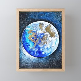 Planet Nine Framed Mini Art Print