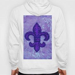 Purple Fleur de Lis Hoody