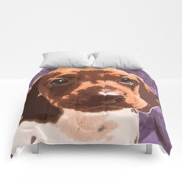 """Chupa Chup"" ~ Dachshund, Weiner Dog, Doxie, everywhere!   Comforters"