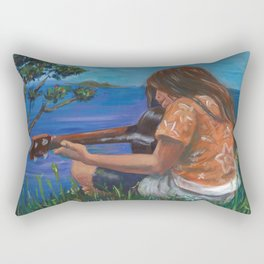 Playing ukulele Rectangular Pillow