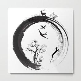 Enso Zen Circle Japanese Symbol Life Nature Tree Wildlife Metal Print